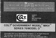 Colt Government MKIV Series 70 Model O