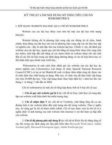 Ky thuat nhap du lieu cho website bang - Tài Nguyên Số - Đại học ...