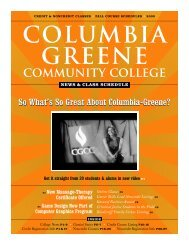 Fall 2009 News and Class Schedule - Columbia-Greene Community ...