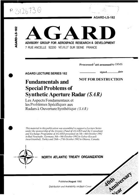 Fundamentals and Special Problems of Synthetic Aperture