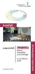 BOUT Kongress 02/2008 - Klinik für Orthopädie und Unfallchirurgie ...