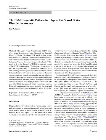 Hyposexual disorder