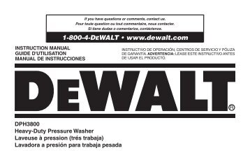 1-800-4-DEWALT • www.dewalt.com - Allparts Equipment ...