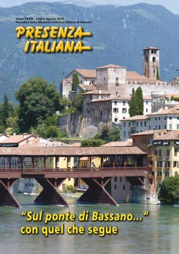 """""""Sul ponte di Bassano..."""" con quel che segue - Comites Ginevra ..."""