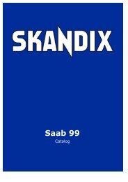 SKANDIX Catalog: Saab 99
