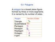 5.4 Polygons Triangle Quadrilateral Pentagon Hexagon Heptagon ...