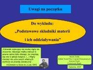 Uwagi na wstępie - Uniwersytet Śląski