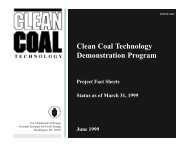 Clean Coal Technology Demonstration Program - National Energy ...