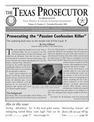 Prosecuting The - Texas District & County Attorneys Association