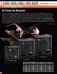 CUBE-120XL/-60XL/-20XL BASS Bass Amplifier - Roland