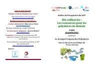 Plaquette - Bioraffineries et polymères essai15 - Groupe Français d ...