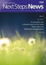Next Steps News - NHS Strategic Projects Team