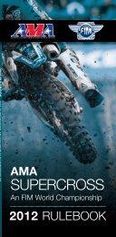2012 AMA Supercross an FIM World Championship Rulebook