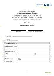 Antrag auf Zulassung zur - Juristische Fakultät