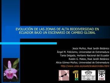Evolución de las zonas de alta biodiversidad en - Gbif.es