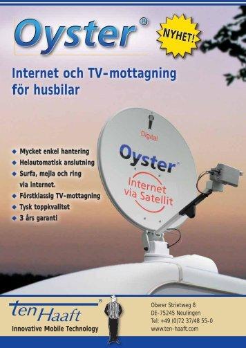 Internet och TV-mottagning för husbilar - ten Haaft