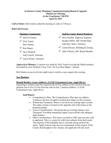 Minutes of the April 24, 2013 Planning Commission/Zoning Board of ...