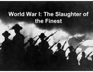 World War I: The Slaughter of the Finest