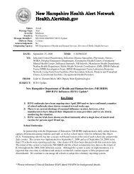 New Hampshire Health Alert Network New ... - gov Mailing Lists