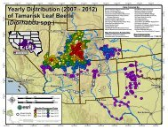 Tamarisk Leaf Beetle Distribution Map 2012 - All About Watersheds