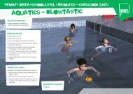 Swimming challenge card - School Games