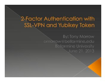 2-Factor Authentication with SSL-VPN and Yubikey Token - AIKCU.org