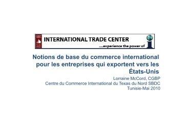 Notions de base du commerce international pour les entreprises qui ...