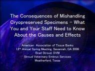 Handling Frozen Semen & Embryos - American Association of ...