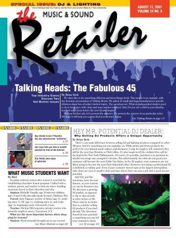 MS Retailer August 15, 2007 - Vol.24 No.8 - Music & Sound Retailer