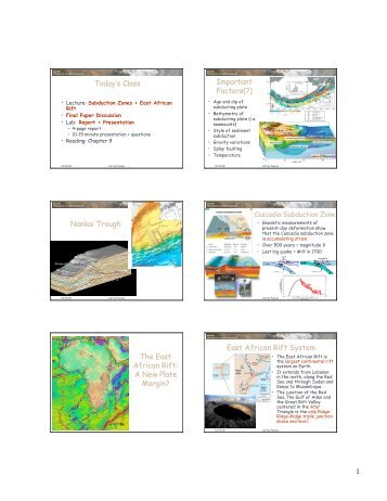 East African Rift System - Cal Poly Pomona
