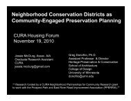 Neighborhood Conservation Districts as Community-Engaged ...