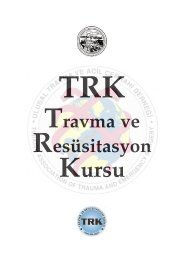 TRK Kitabı - Ulusal Travma ve Acil Cerrahi Derneği