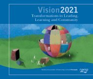 Vision 2021: Transformations in Leading, Learning and Community