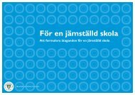 att formulera åtaganden för en jämställd skola - Pedagog Stockholm