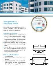 Montageanleitung Messkapsel Minolas - Zenner