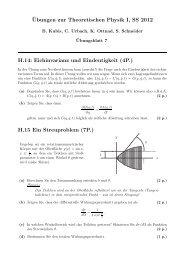 ¨Ubungen zur Theoretischen Physik I, SS 2012 H.14: Eichinvarianz ...