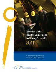 Canadian Mining Industry Employment and Hiring Forecasts ... - MiHR