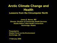 Arctic Climate Change and Health. - Alaska Native Science ...