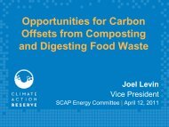 110428 carbon credits and revenue from food waste - SCAP