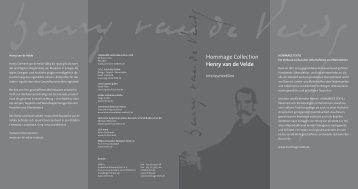 Hommage Collection Henry van de Velde - Allianz Textiles Denkmal