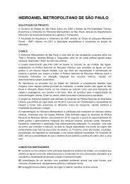 press release sobre o hidroanel - blog da Raquel Rolnik
