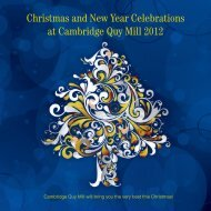 Christmas and New Year Celebrations at Cambridge Quy Mill 2012