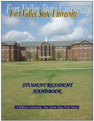 STUDENT RESIDENT HANDBOOK - Fort Valley State University