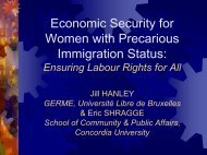Economic Security for Women with Precarious Immigration Status