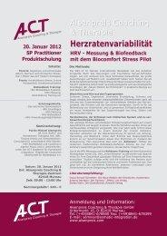 Herzratenvariabilität - Herzkohärenz HRV-Biofeedback