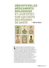 Démystifier les médicaments biologiques et leur effet ... - Conseiller
