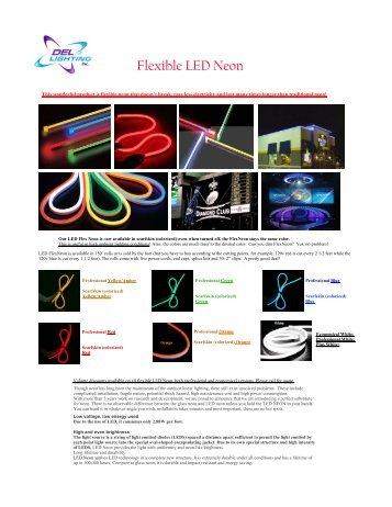Flexible LED Neon - Del Lighting
