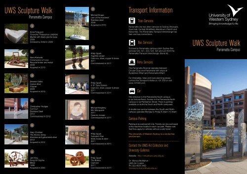 download the brochure - Art Gallery - University of Western Sydney