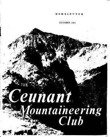 December 1965 - Ceunant Mountaineering Club