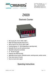 Electronic Counter Operating Instructions - Elektro-Trading sp. z oo
